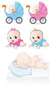 Babies Vectors — Stock Vector