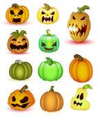 Halloween Pumpkins Vectors — Stock Vector