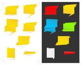 Paper Origami Speech Bubble and Banner Vectors — Stock Vector