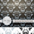 Damask Patterns Vectors — Stock Vector