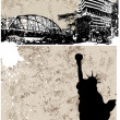 Grunge City Backgrounds Vectors - Vettoriali Stock