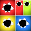 Bullet Hole Vector Backgrounds — Stock Vector #12836642