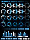 Preloaders and Loading Bars Vectors — Stock Vector