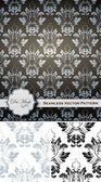 Damask Patterns Vectors — Stock Vector