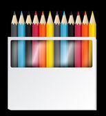 彩色铅笔矢量 — 图库矢量图片