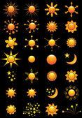 Sun Vectors — Stock Vector