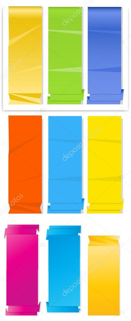 Conceptual Creative Design Art of Paper Banner Vectors — Stock Vector #12836816