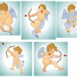 Classic Vector Cupids — Stock Vector