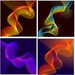 Vector Waves Lines Backgrounds — Stock Vector