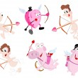 Vector de stock : Cartoon Vector Cupids
