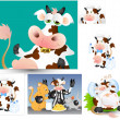 Cows Vectors — Vector de stock #12844627