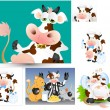 Cows Vectors — Vector de stock