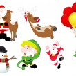 Stock Vector: Christmas Vector Illustrations Pack