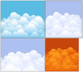 Clouds Vector Backgrounds — Stock Vector