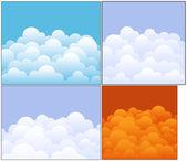 Nuvole vettoriali sfondi — Vettoriale Stock