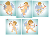 Classic Vector Cupids — Vector de stock