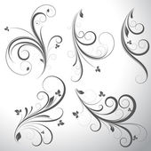 Swirls Vector Elements — Vetor de Stock