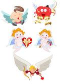 Vetores de desenhos animados de Cupido — Vetor de Stock