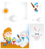 Easter Vector Backgrounds — Stock Vector