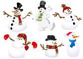 Snowmen Vectors — Stock Vector
