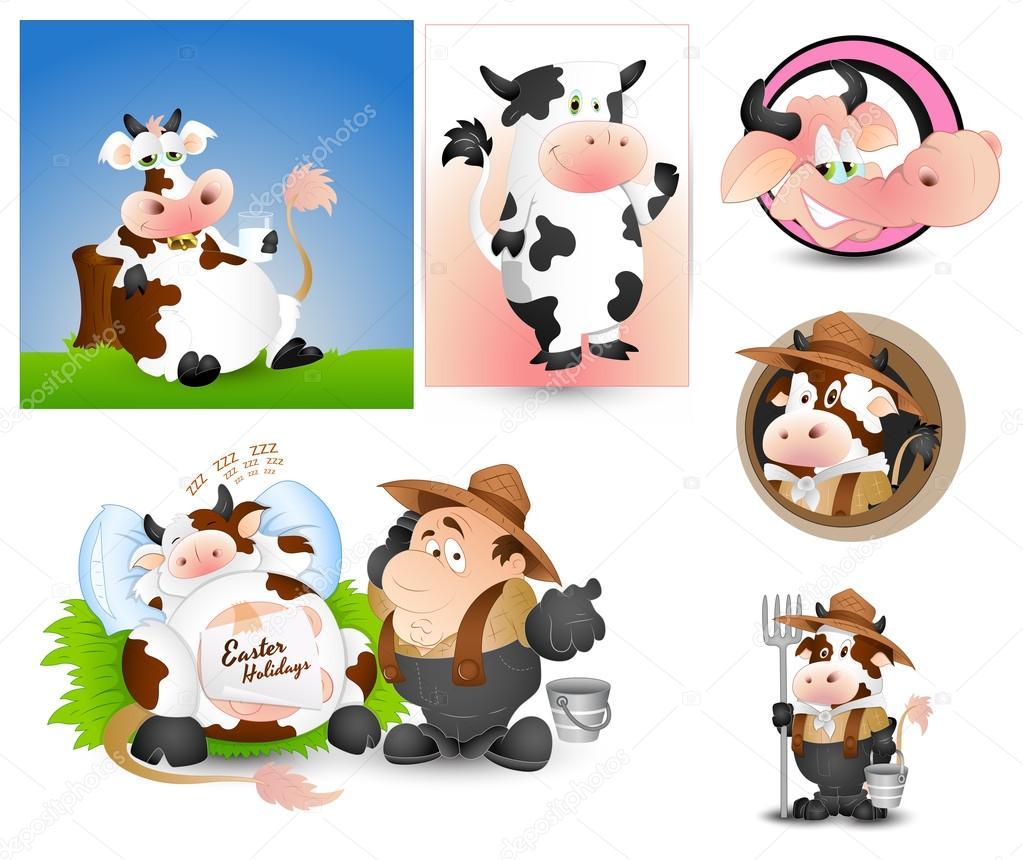 Cow Milk Logo Design Design Art of Cow Milk And