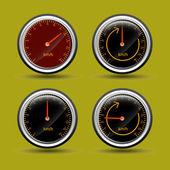 Hız ölçer vektörler — Stok Vektör