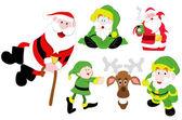 Christmas Santa Illustrations Vectors — Stock Vector
