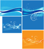 Wavy Backgrounds Vectors — Stock Vector