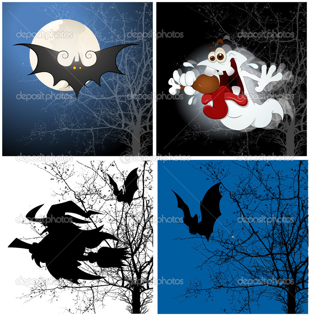 Creative Abstract Conceptual Design Art of Halloween Backgrounds — Imagens vectoriais em stock #12858565