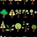 Trees Vectors — Stock Vector