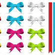 Decorative Banners and Bows Vectors — Imagen vectorial