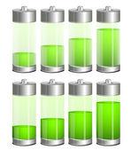 Wektory baterii — Wektor stockowy