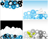 Gears Backgrounds Vectors — Stockvektor