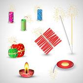 Diwali Crackers Vectors — Stock Vector
