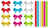 Decorative Banners and Bows Vectors — Stock Vector