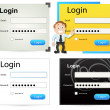 Login Box Vectors - Stock Vector