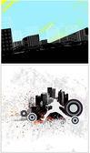 Urban Style Vector Backgrounds — Stock Vector