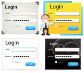 Login Box Vectors — Stock Vector