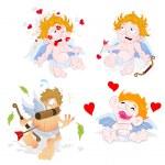 Valentine Cupid Vectors — Stock Vector #12882866