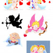 Cupids Vectors — Vector de stock #12883165