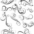 Swirly Vectors Design Elements — Stock Vector