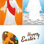 Easter - Jesus Vector Backgrounds — Stock Vector #12883255