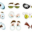 Stock Vector: Vector Eyes