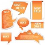 Web Info Boxes Vectors — Stock Vector