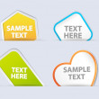 Info Stickers Vectors — Stock Vector