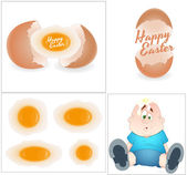 Easter Vector Designs — Vettoriale Stock
