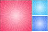 Weiche sunbursts vektoren — Stockvektor