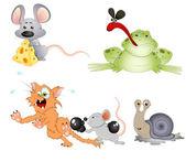 Cute Animals Vectors — Stock Vector