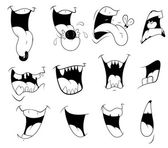 Cartoon Mouth Vectors — Stock Vector