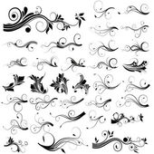 Floral and Swirls Vectors — Stock Vector